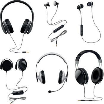 Headphones Realistic Set
