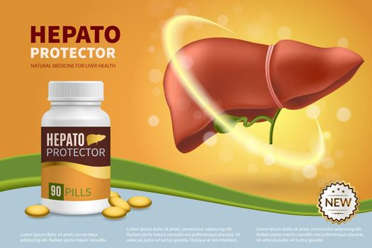 Hepatoprotector Realistic Composition