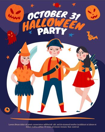 Halloween Kids Party Poster