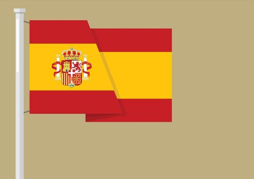Spain flag with copyspace
