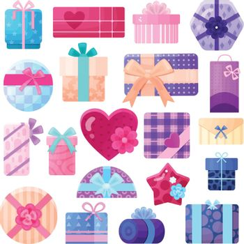 Gifts Boxes And Packages Set