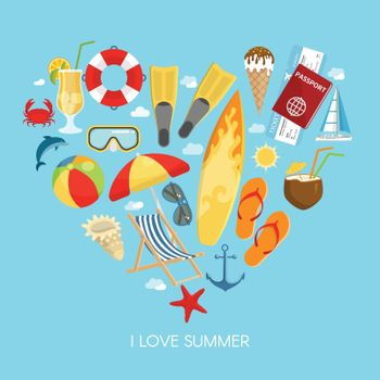Heart Summer Composition