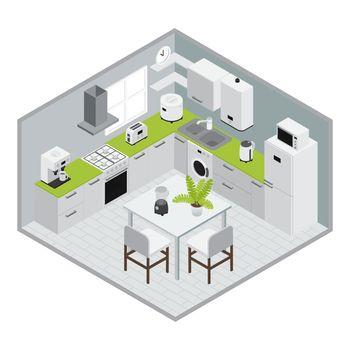 Isometrics Kitchen Composition