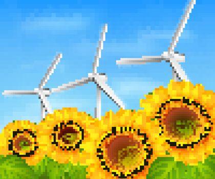 Green energy background