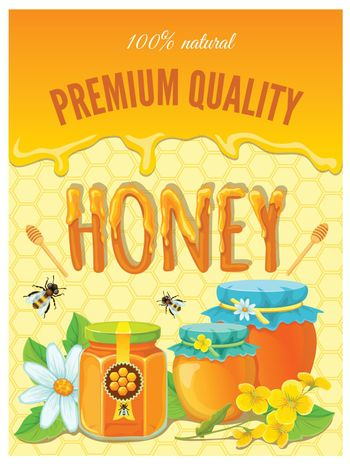 Honey Colored Poster