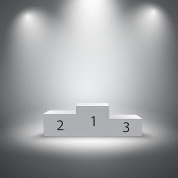 Illuminated sports winners podium