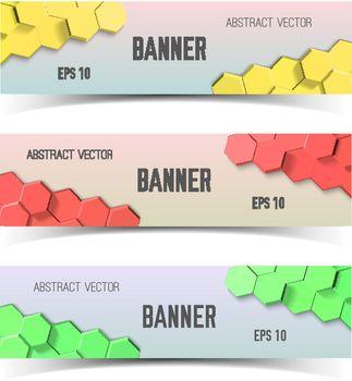 Honeycombs Banner Set
