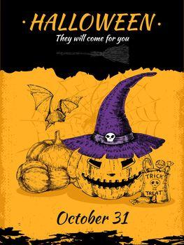 Halloween Hand Drawn Poster