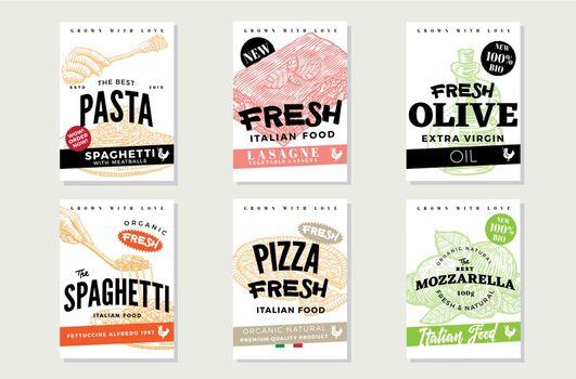 Hand Drawn Italian Food Brochures
