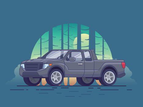 Gray Pickup Truck Concept