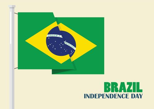 Brazil Independence Day with Brazil flag