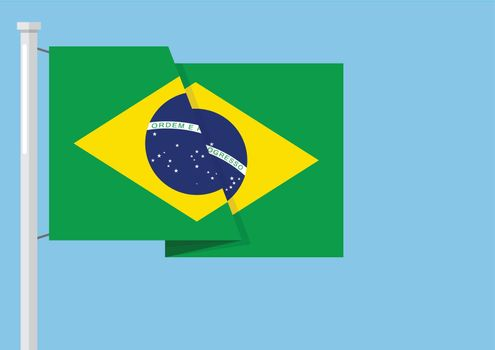 Brazil flag with copyspace