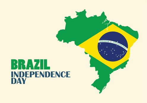 Brazil Independence Day with Brazil map