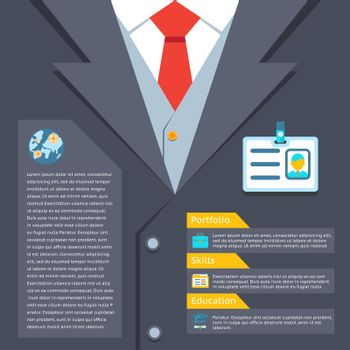 Business suit summary concept