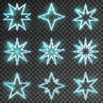 Glitter stars vector