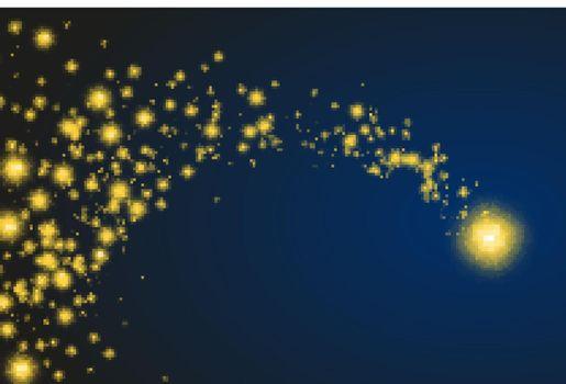 Golden Falling Star