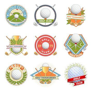 Golf club logo set