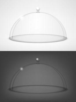Glass transparent half-sphere