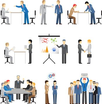 business peoples in different poses