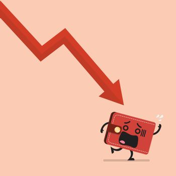 Heavy debt falling to frightened wallet