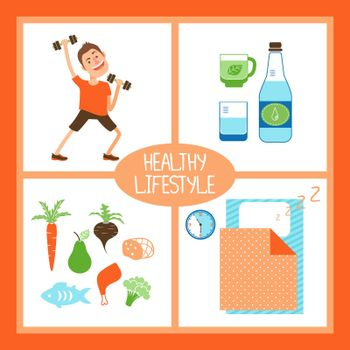 Healthy Lifestyle illustration