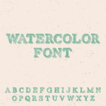 Handwritten Watercolor Font Template