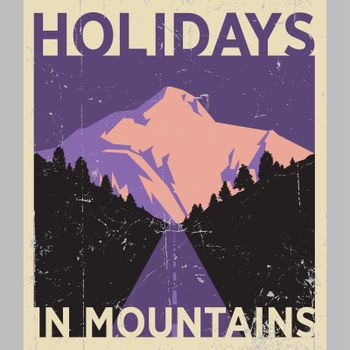 Holidays In Mountains Poster