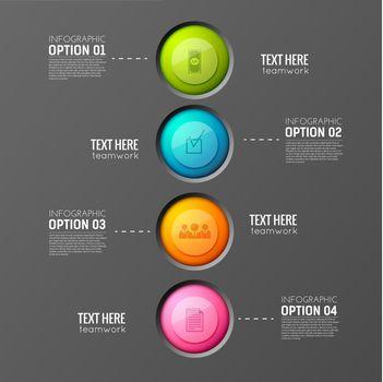 Round Buttons Teamwork Background