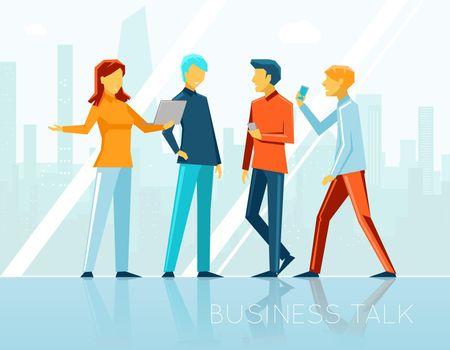 Business talk, creative brainstorming