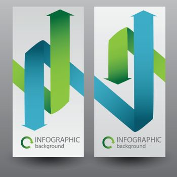 Business Infographic Vertical Banners