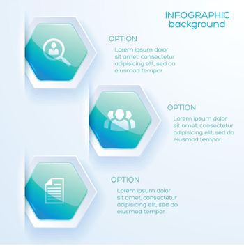 Business Infographic Option Layout In Paper Style