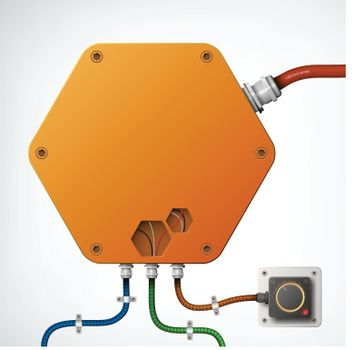 High-Tech Industrial Box Composition