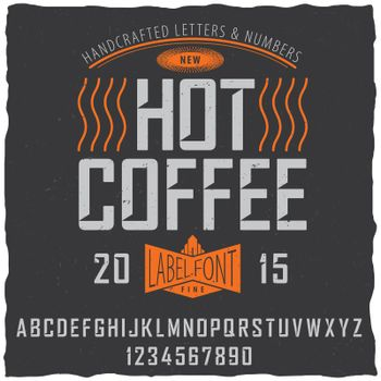 Hot Coffee Font Poster