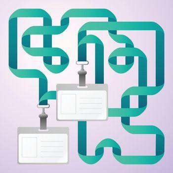Identification Cards Illustration