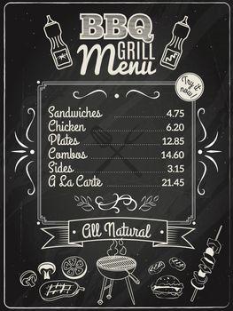 Grill Menu Chalkboard