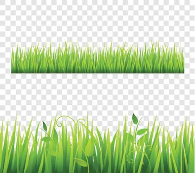 Grass Border Tileable Transparent