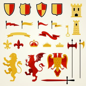 Heraldic Elements Set