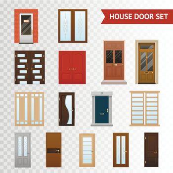 House Doors Transparent Set