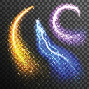 Glitter Particles Transparent Set