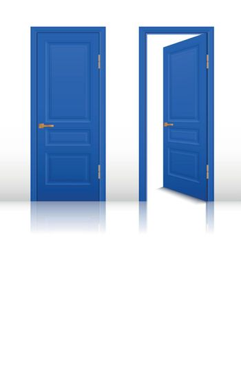 House Open And Closed Door Set