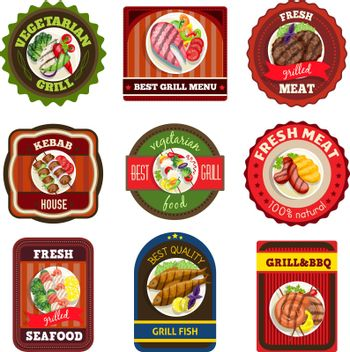 Grill Dishes Emblems