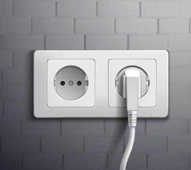 Electric Socket Cabel Plugged