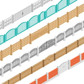 Fences And Gate Isometric Elements