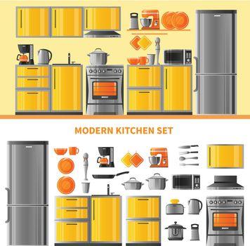 Kitchen Design Concept With Domestic Technique