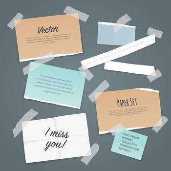 Sticky Tape Paper Set