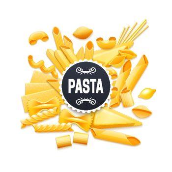 Italian Traditional Dry Pasta Realistic Pictogram
