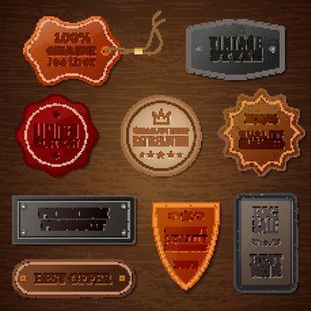 Leather Label Set