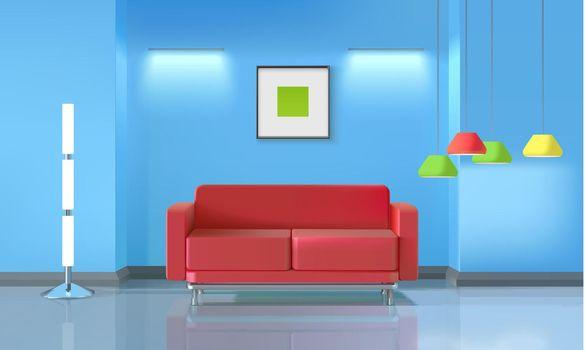 Living Room Realistic Design