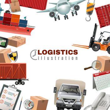 Logistics Colorful Template