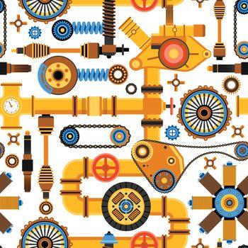 Machinery Seamless Pattern